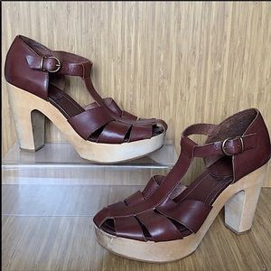 Madewell The High Road Platform Sandals Brown 8